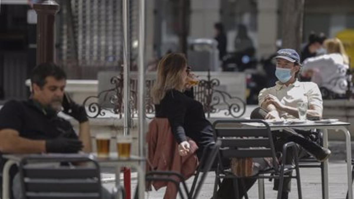 Terraza de un bar de Sevilla