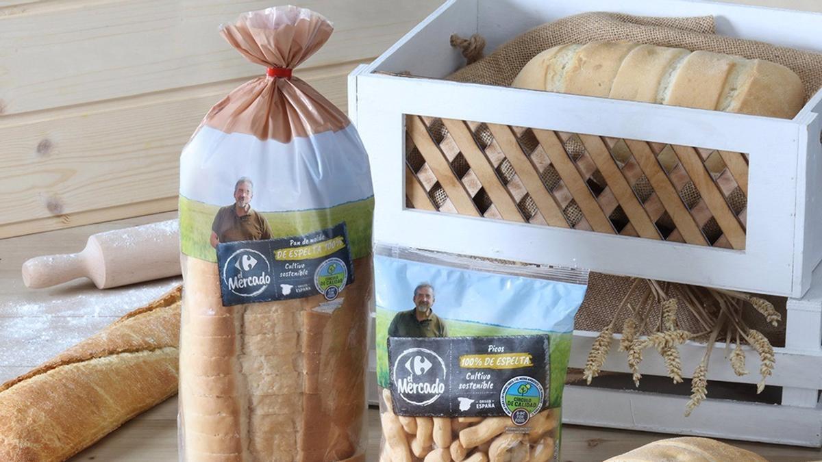 Panes de espelta de Carrefour
