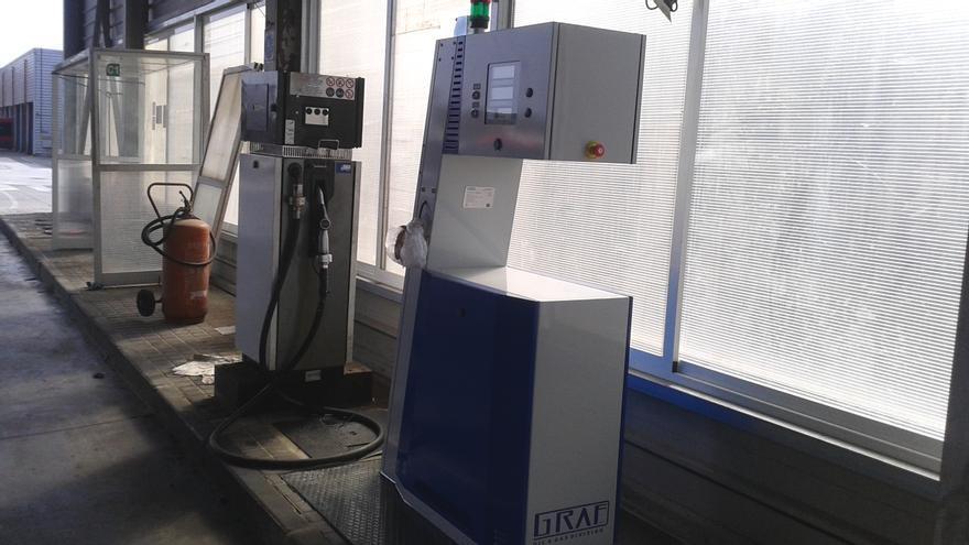 Estación de Tussam para repostar GNC