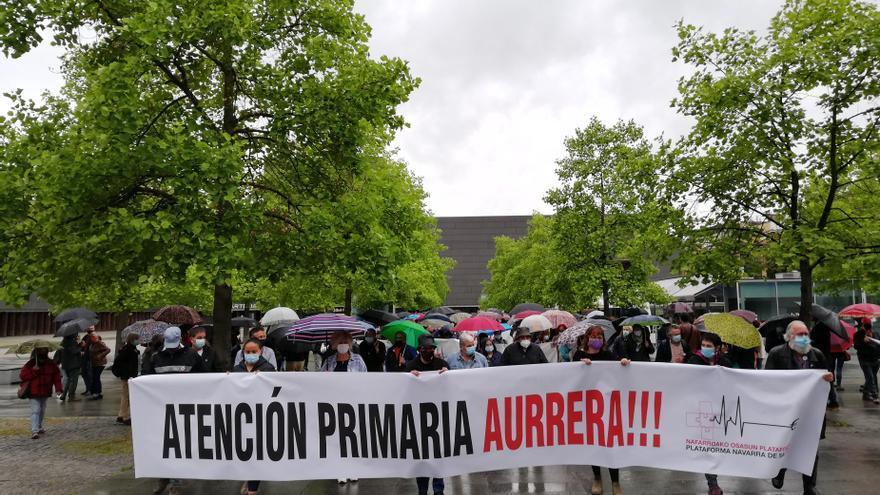 Manifestación de la Plataforma Navarra de Salud
