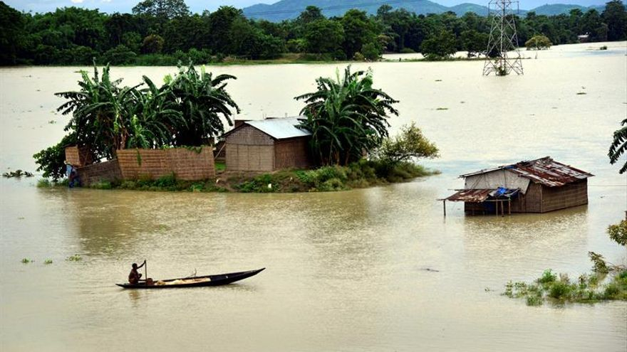 Más de 88.000 afectados por inundaciones en el noreste de la India