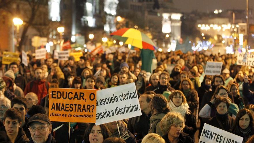 El año 2012 se despide en Madrid con casi una manifestación o huelga por día