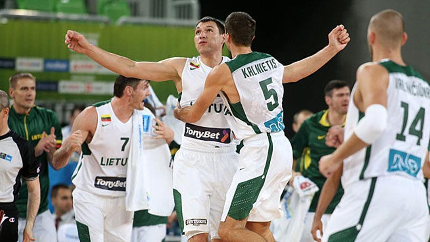 Jugadores de la selección lituana (Europa Press).