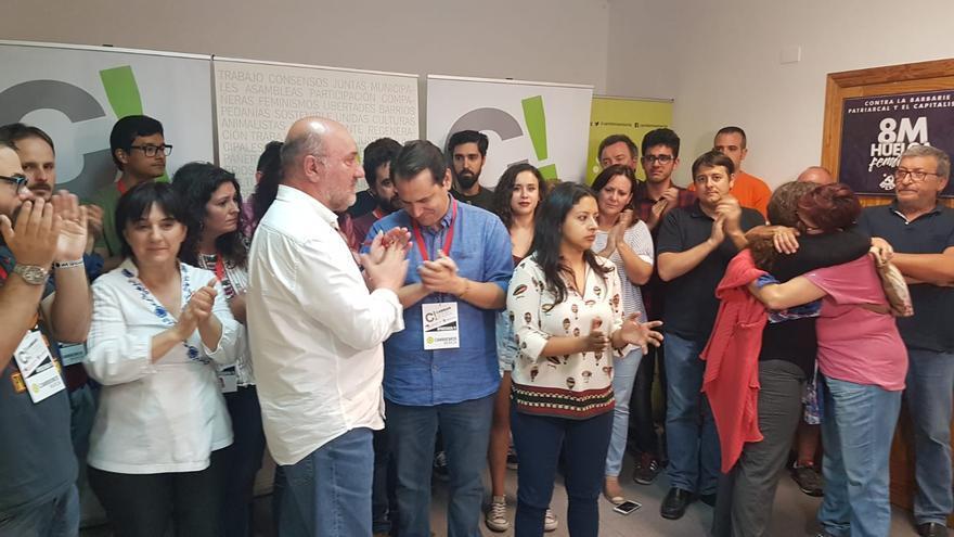 Sergio Ramos, candidato por Cambiemos Murcia (IU-Anticapitalistas) a la alcadía tras notificar su dimisión por los malos resultados