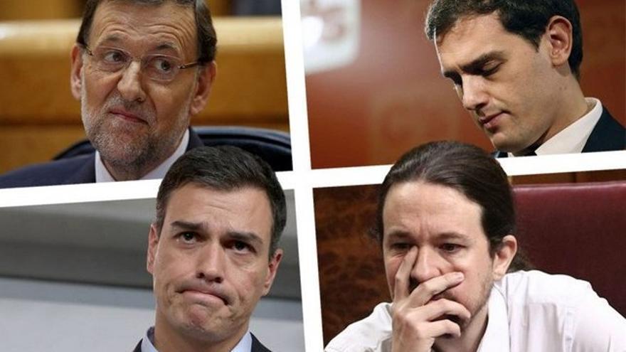 Mariano Rajoy, Albert Rivera, Pedro Sánchez y Pablo Iglesias