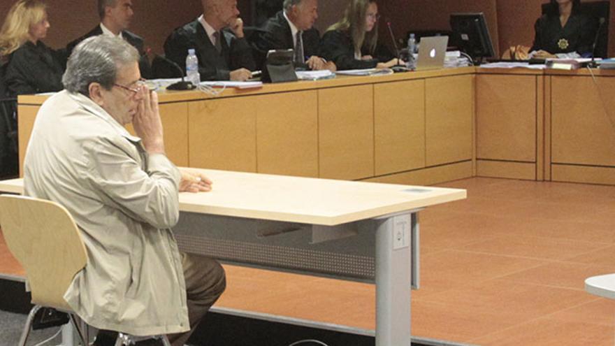 Enrique Pérez Parrilla, declarando como testigo en otro juicio del caso Unión / Foto: De la Cruz.