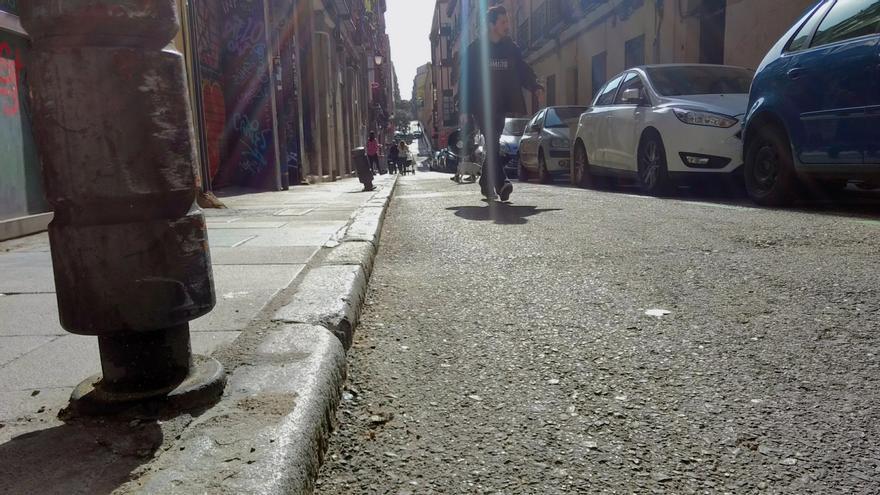 Calle San Vicente Ferrer, en el tramo que va de San Bernardo a Amaniel | SOMOS MALASAÑA