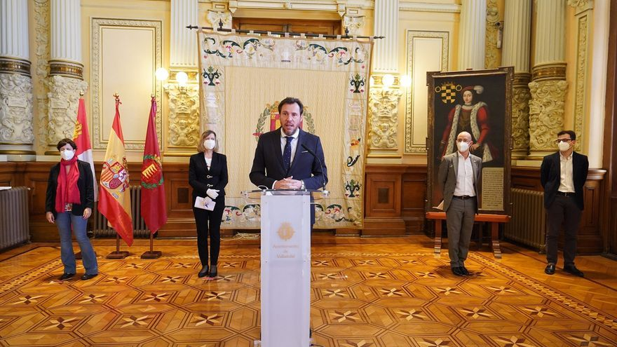 El alcalde de Valladolid presenta el acuerdo respaldado por los portavoces de VTLP, PP, Ciudadanos y PSOE.
