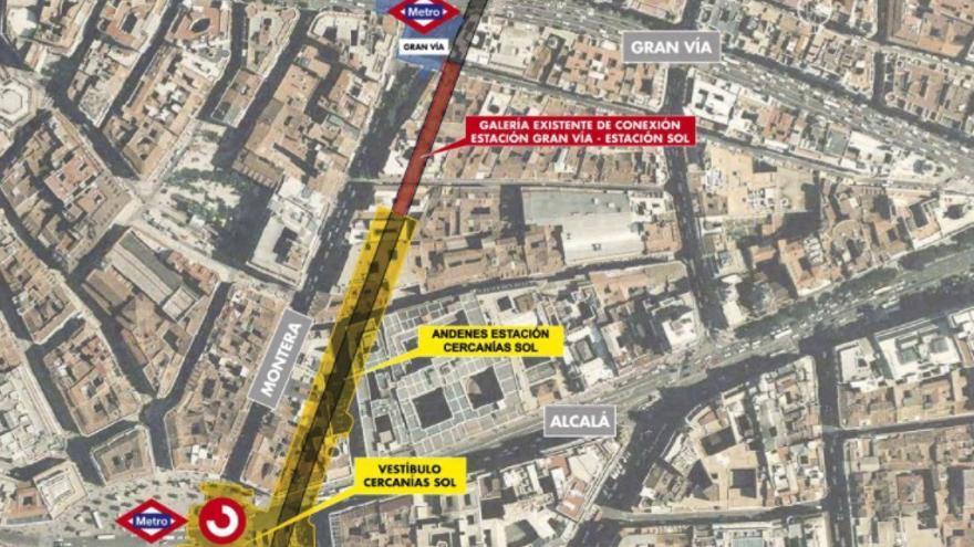 Mapa sobre la situación actual de las conexiones. / Comunidad de Madrid