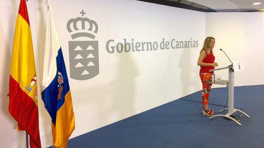 Rosa Dávila, portavoz del Gobierno de Canarias. (EUROPA PRESS)