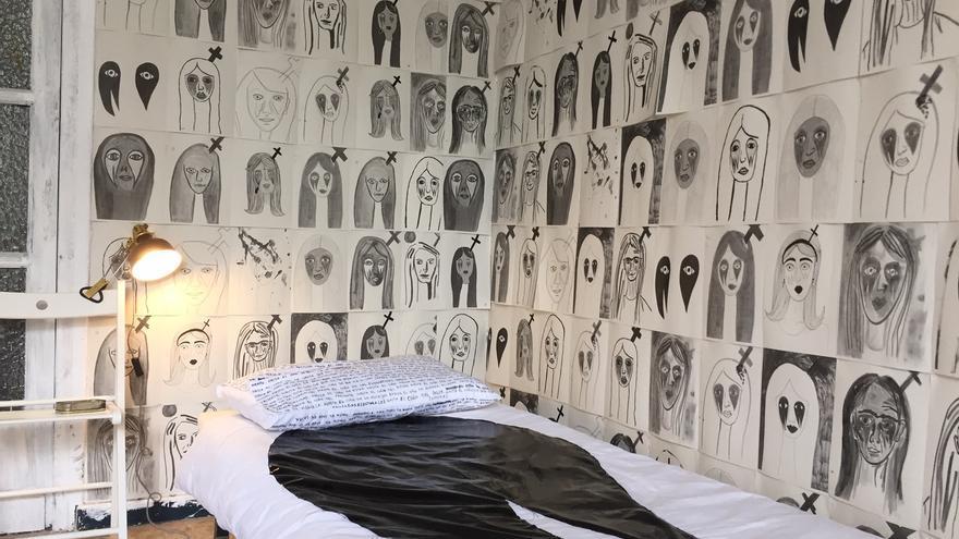 Instalación de Gema Polanco en la exposición 'El día que realmente votaste'