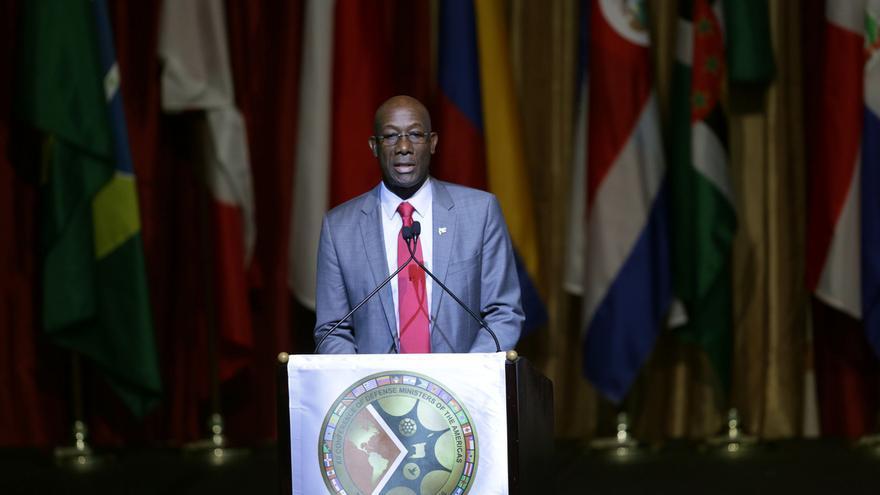En la imagen un registro del primer ministro de Trinidad y Tobago, Keith Rowley, quien ocupa el cargo desde el 9 de septiembre de 2015.