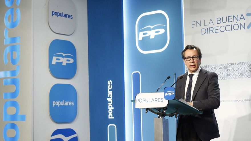 """El PP, sobre la marcha de Podemos: """"Ni una propuesta ni una bandera constitucional"""""""