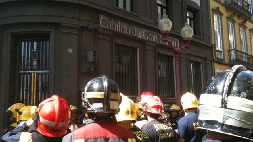 De las protesta de los bomberos #11