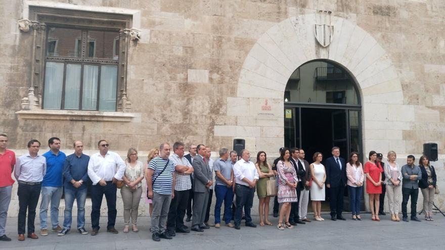 Concentración de este viernes ante el Palau de la Generalitat por el atentado de Niza.