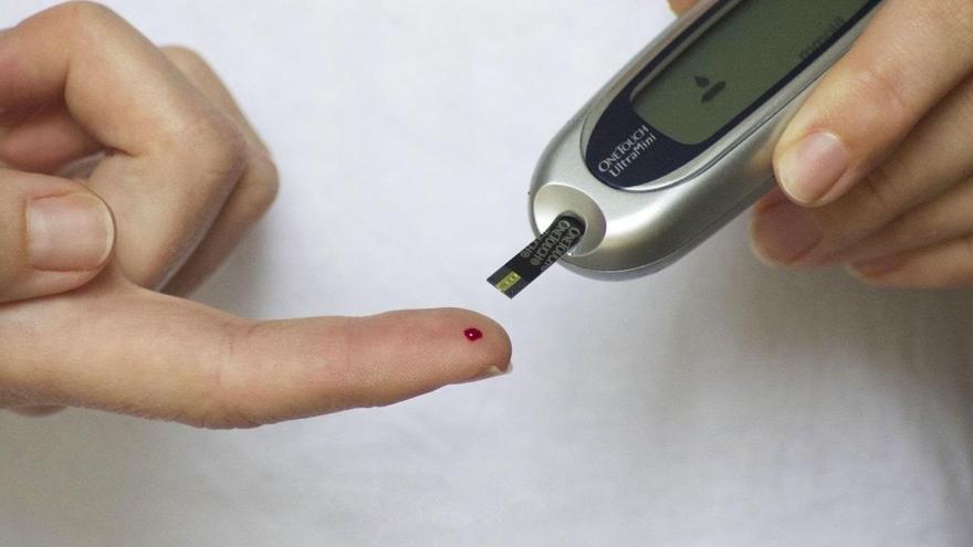 Aparato para medir la glucosa en sangre de las personas