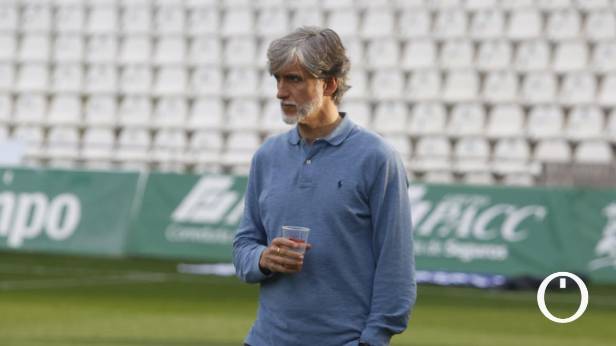Pablo Alfaro, durante el duelo ante el Recreativo Granada