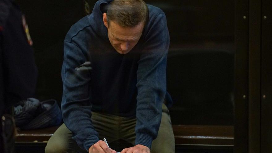 El opositor ruso Alexei Navalni, condenado a tres años y medio de prisión