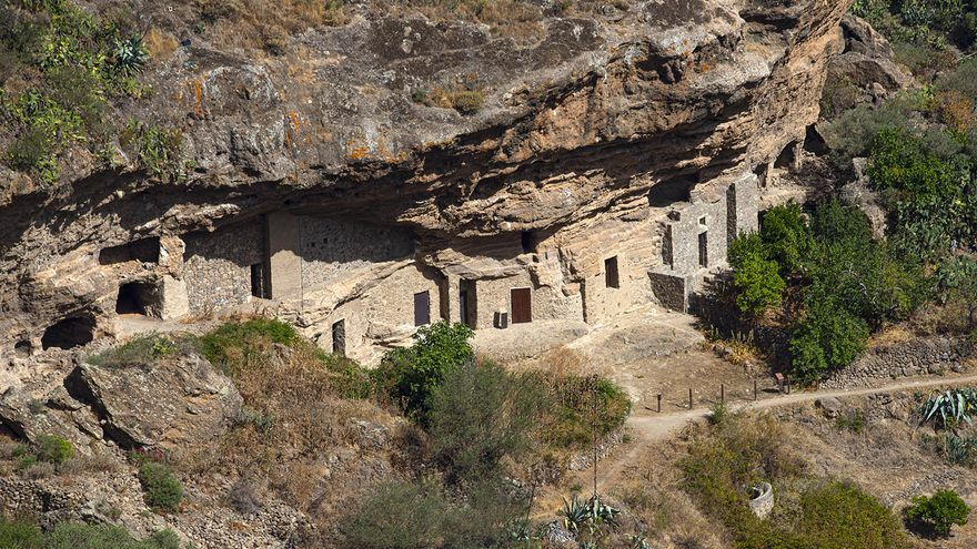 Zona arqueológica de Risco Caído (Gran Canaria).