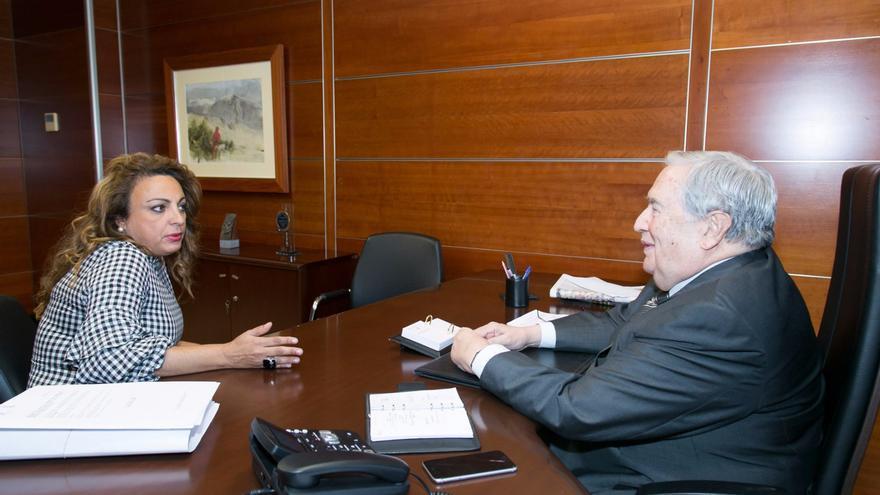 Cristina Valido y Jerónimo Saavedra
