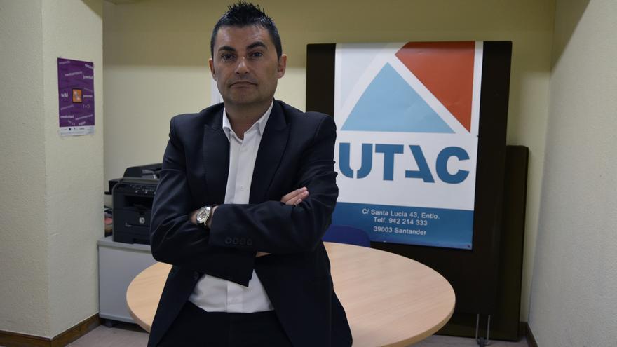 Abad, en la sede de UTAC en Cantabria.