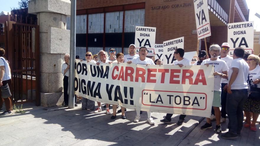 Vecinos de la Sierra Norte de Guadalajara piden el arreglo de la CM-1035