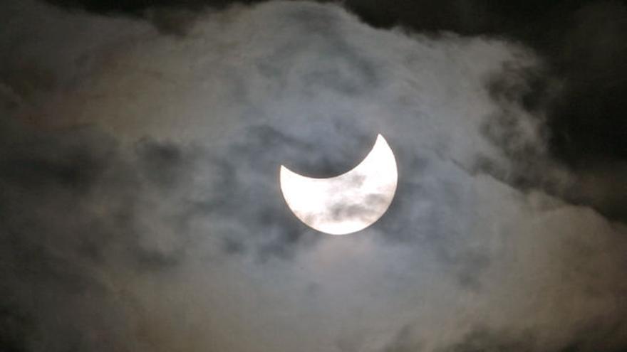 Eclipse de Sol desde el sudeste de Gran Canaria, en marzo de 2015