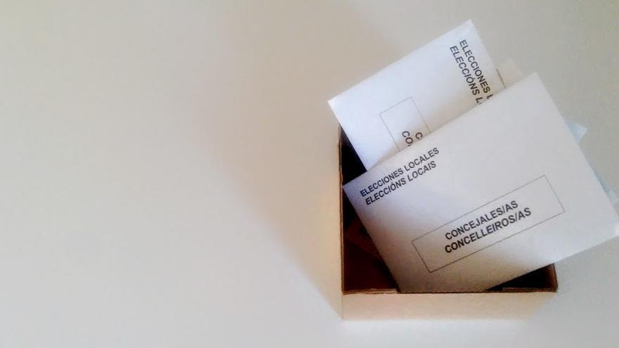 Sobres de votación en las elecciones municipales / Merixo