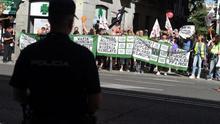 Concentración de vigilantes contra Marsegur.