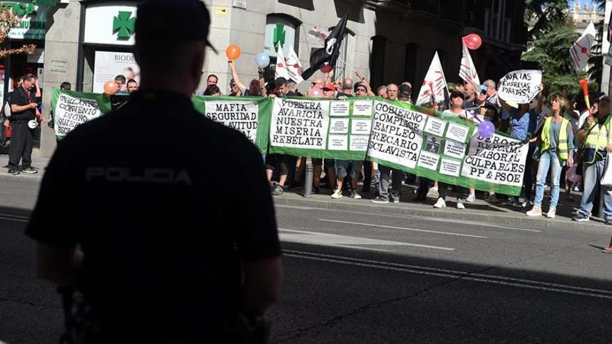 Manifestación de trabajadores de Marsegur