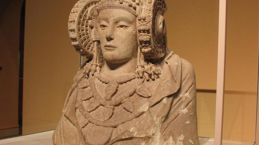 La Dama de Elche está expuesta en el Museo Arqueológico Nacional en Madrid