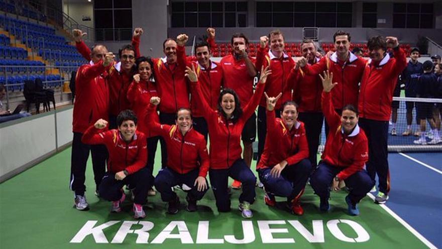 El equipo español de la Copa Federación.