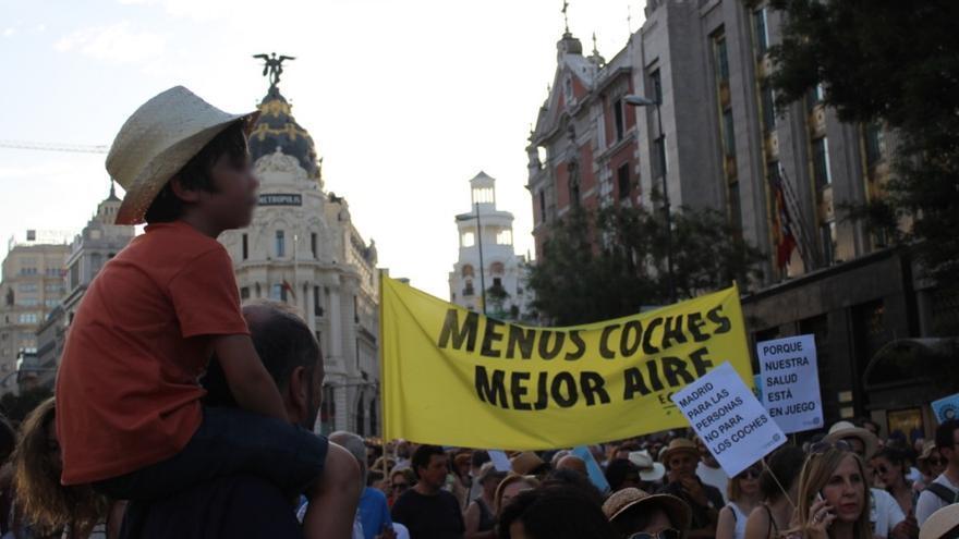 Asistentes a la manifestación en defensa de Madrid Central