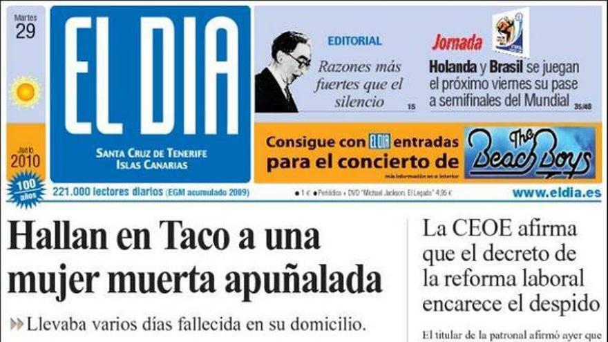 De las portadas del día (29/06/2010) #4