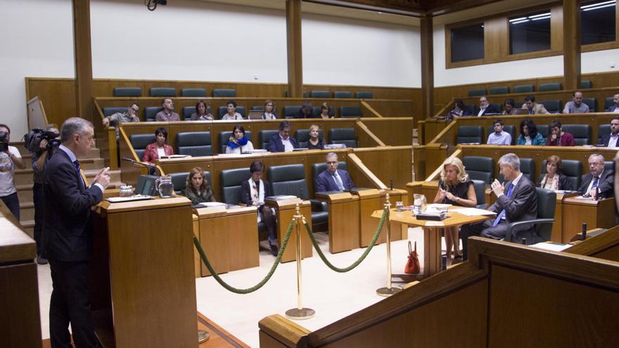 El lehendakari, en la sesión de control al Gobierno