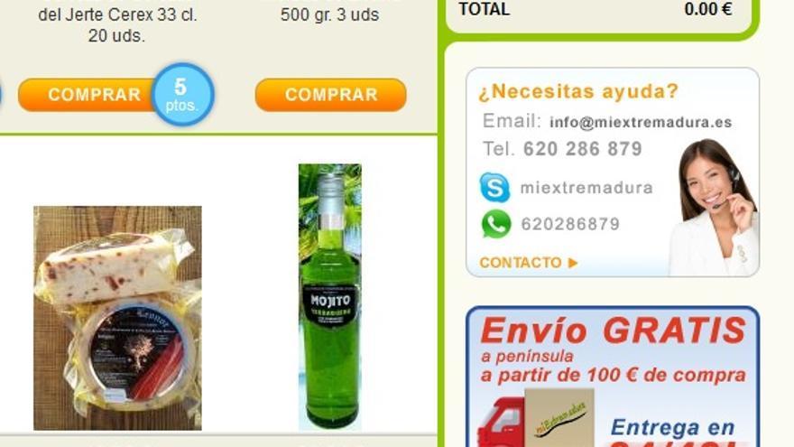 En MiExtremadura.es emplean el botón de WhatsApp como servicio de atención al cliente