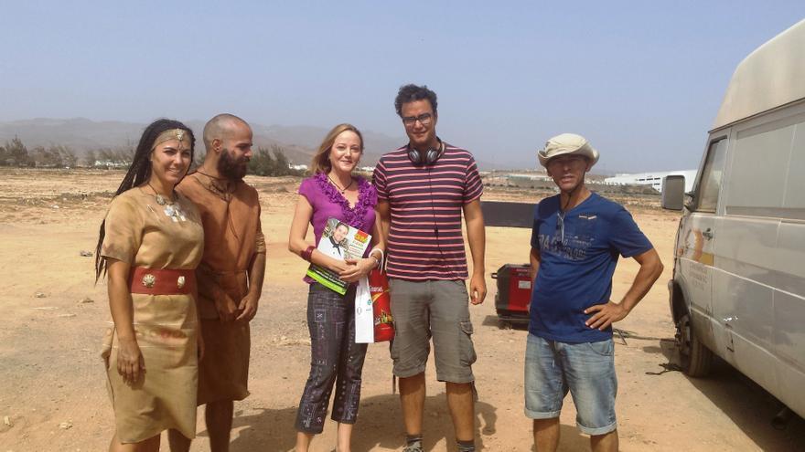 Rodaje en Tufia de la película 'La Tribu de las 7 Islas'
