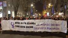 Manifestación por el 25N en Bilbao.