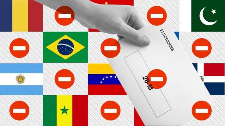 Las nacionalidades que no pueden votar el 26M.