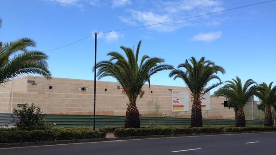 En la imagen, exterior del futuro Parque Cultural Islas Canarias, en Los Llanos de Aridane.