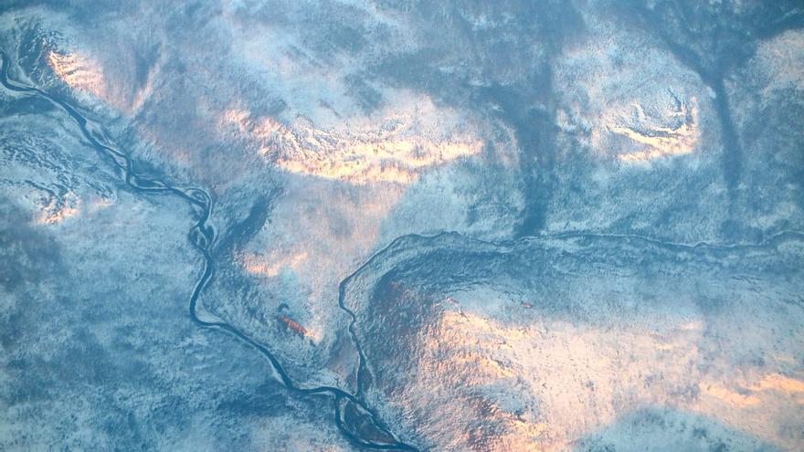 Siberia desde un avión.