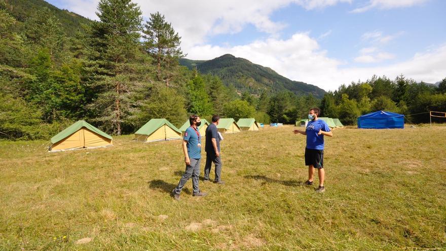 Una de las acampadas juveniles realizadas en Navarra durante el mes de julio