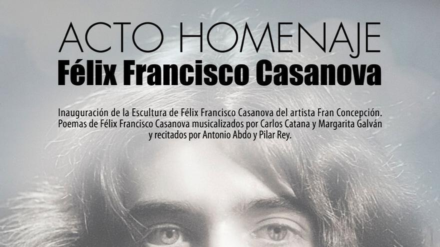 Cartel del homenaje a Félix Francisco Casanova.