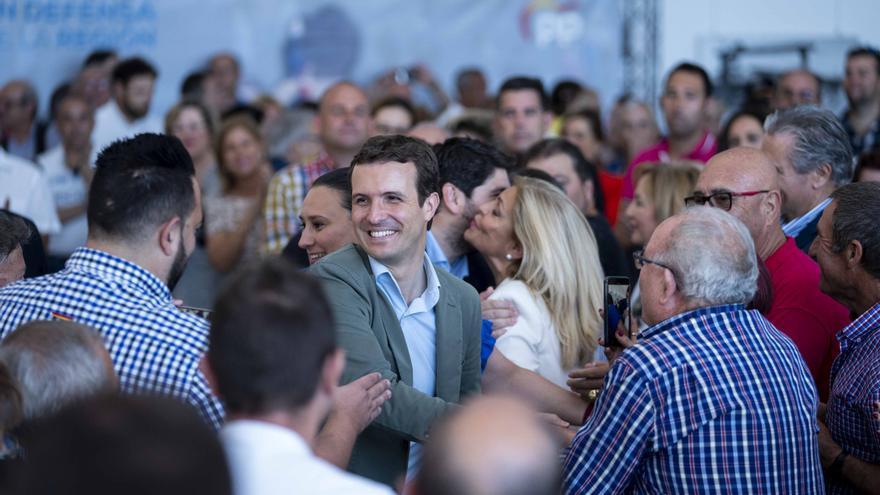 El líder del PP, Pablo Casado, se ha vuelto a volcar en la campaña del 26M.