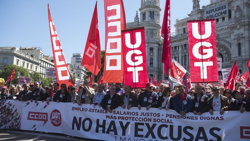 Cabecera de la manifestación del Primero de Mayo en Madrid/Fernando Sánchez