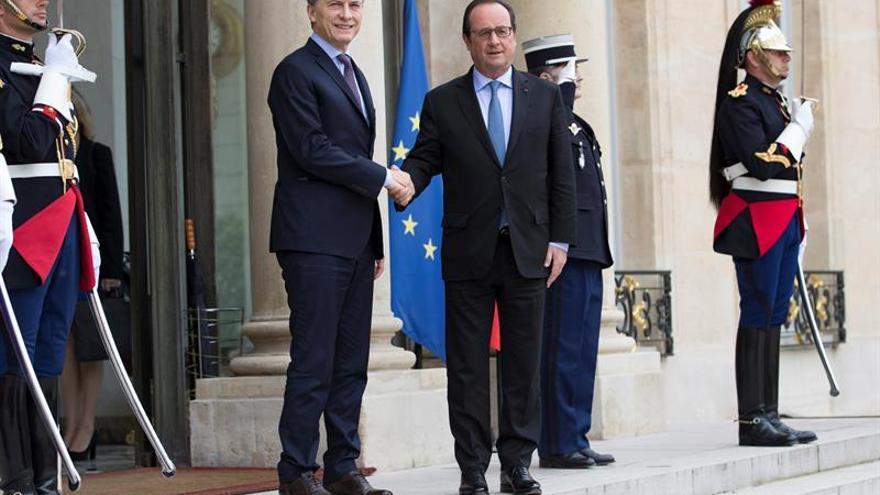 """Hollande a Macri: Las negociaciones con Mercosur avanzarán pese al """"brexit"""""""