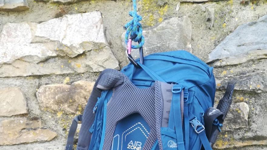 Una de las características de esta mochila es la comodidad y la buena ventilación en su espaldera