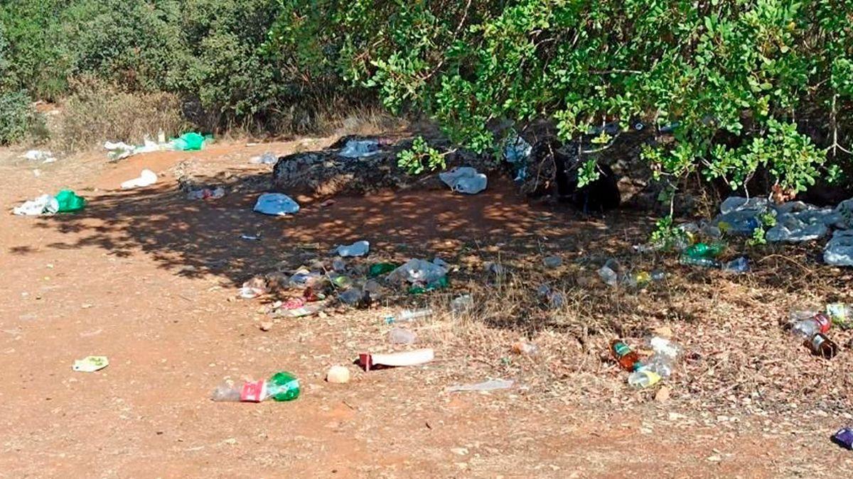 Imagen de basura en El Patriarca