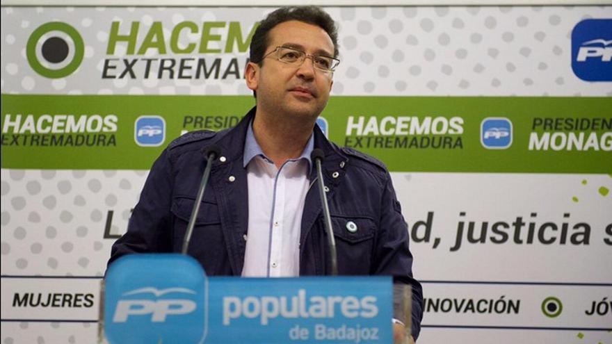 Secretario general del PP de Extremadura y director de campaña, Fernando Manzano / Twitter @HacemosExt
