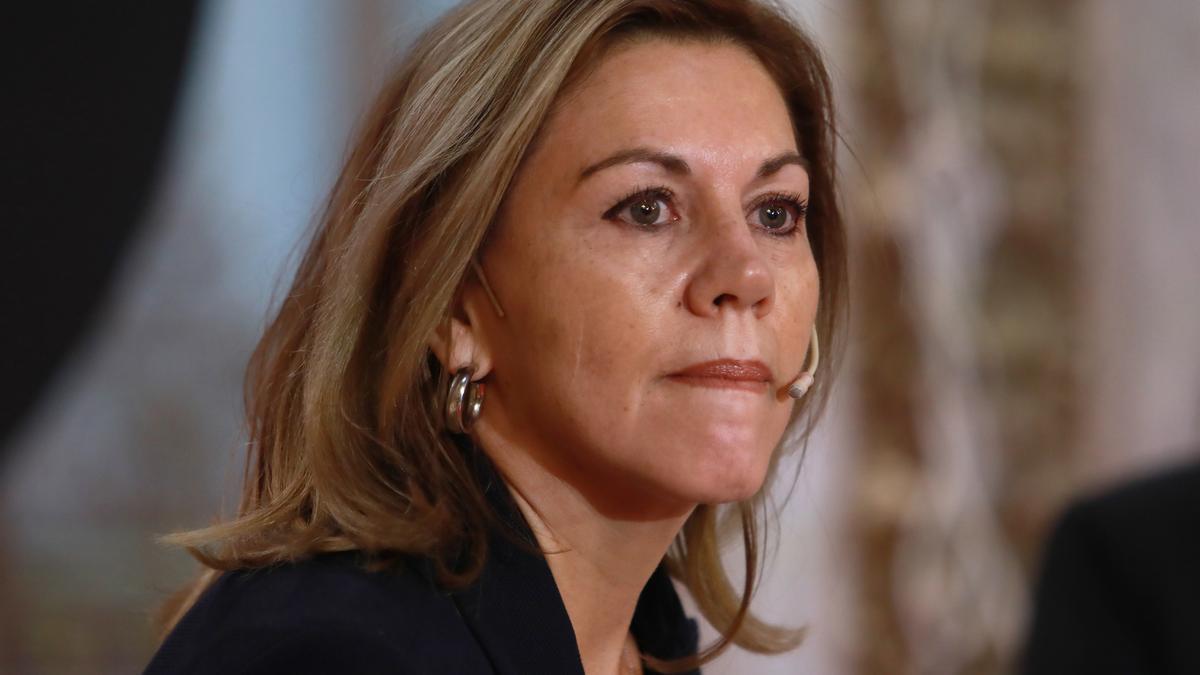 La exsecretaria general del PP y exministra de Defensa, María Dolores de Cospedal.